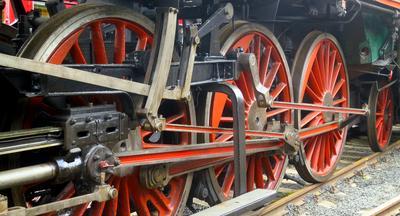 Železniční muzeum Lužná u Rakovníka - mašina Mikádo